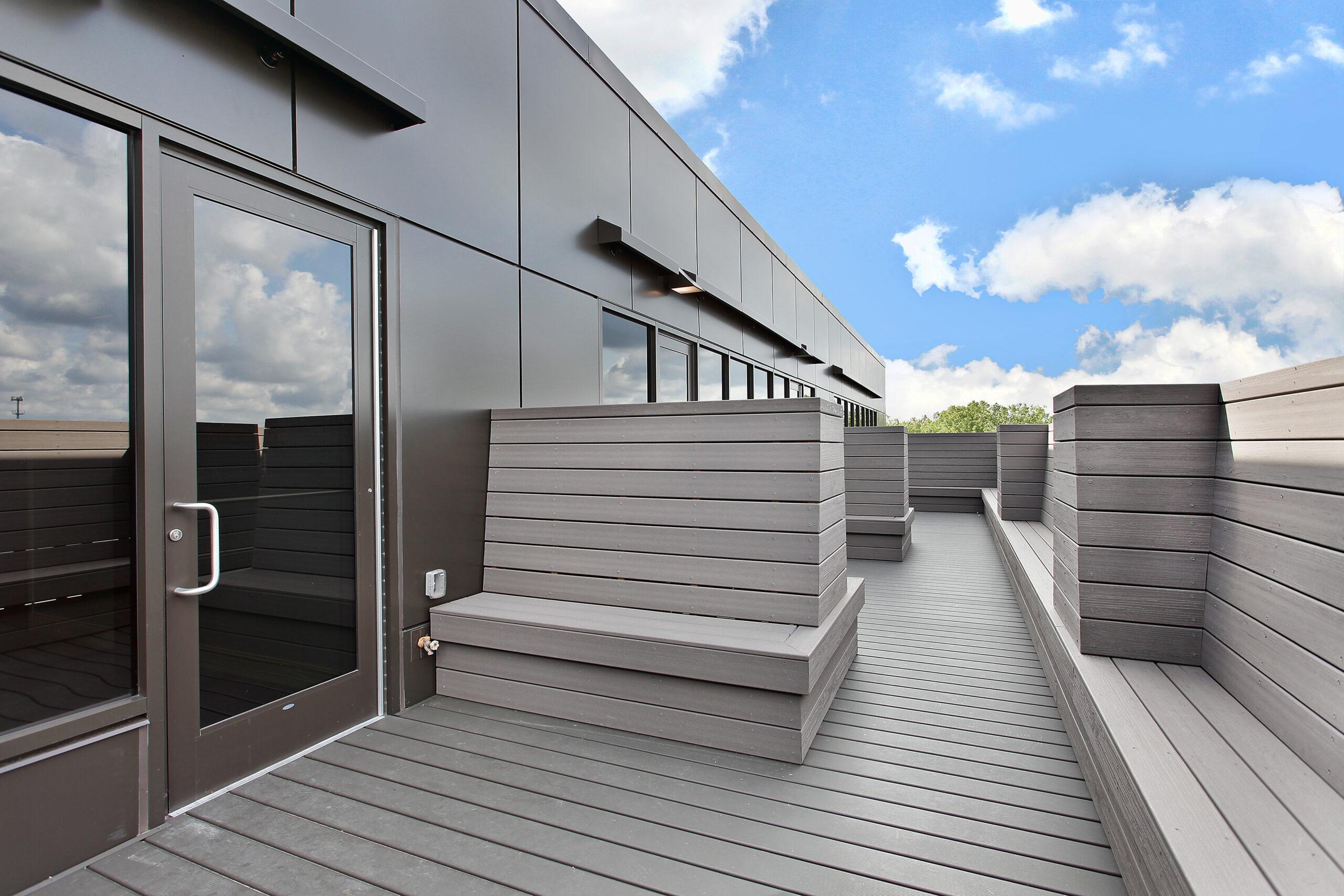 Exterior buildout, deck space, JourneyCare.