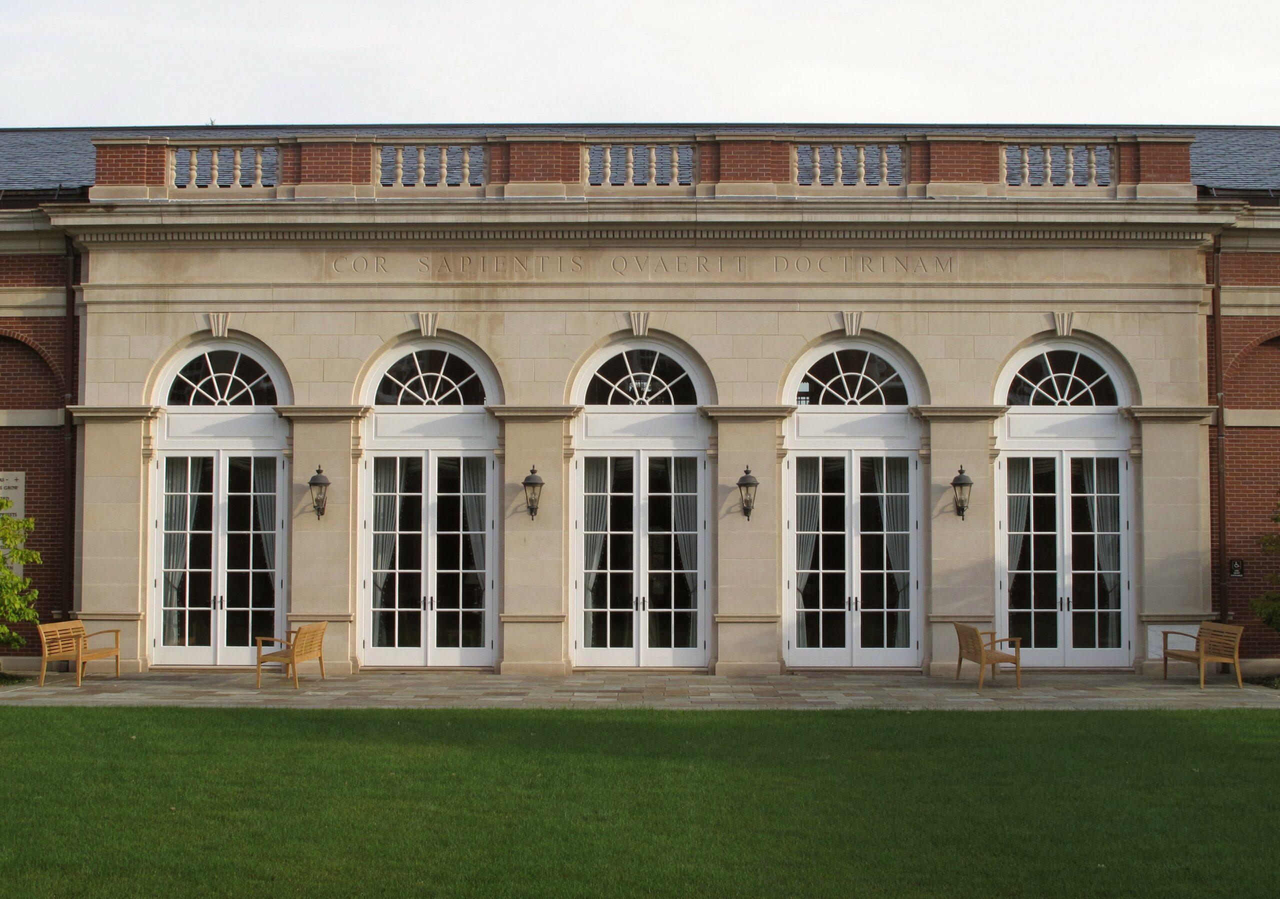 Exterior of Feehan Memorial Library.