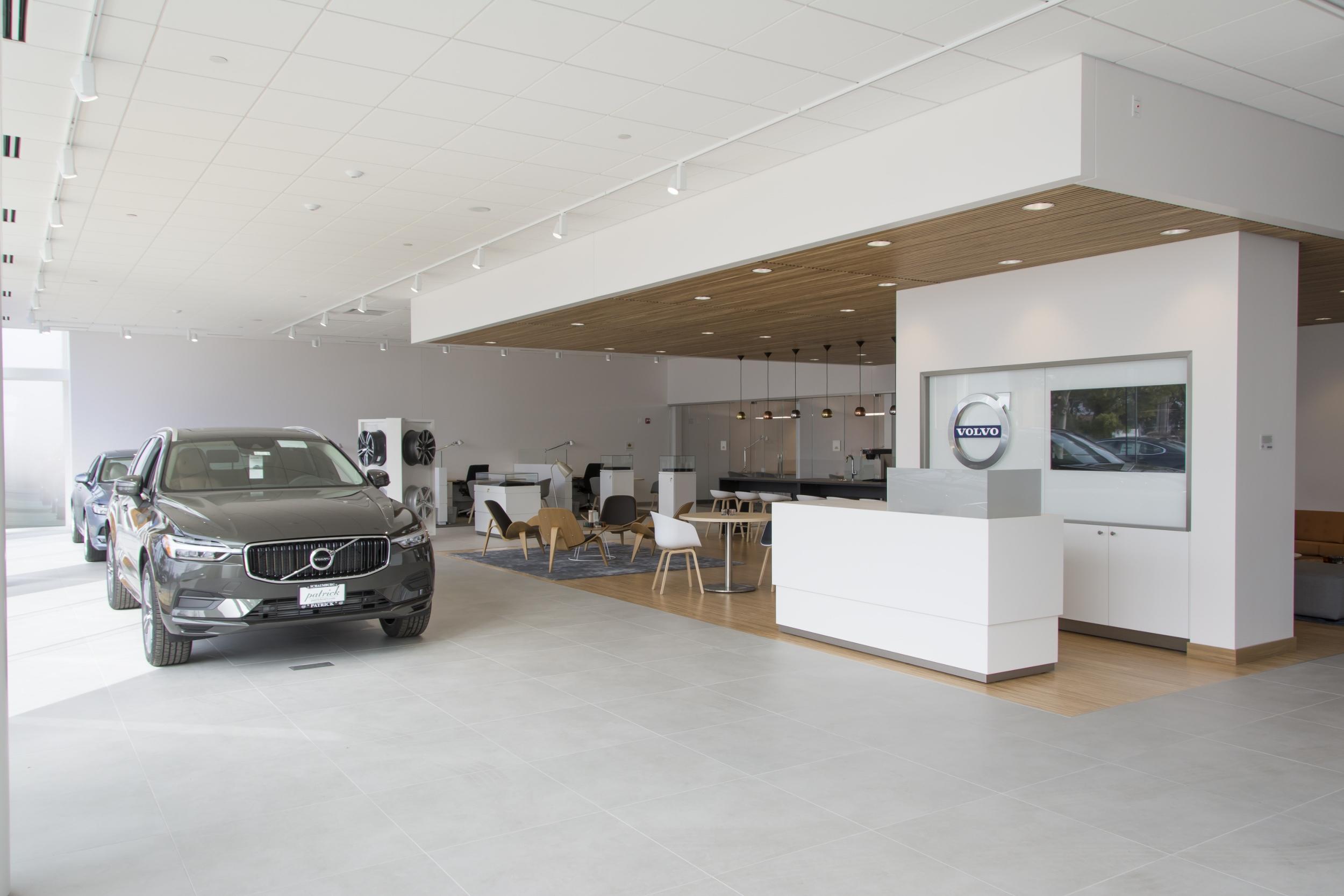 Interior of Patrick Volvo.