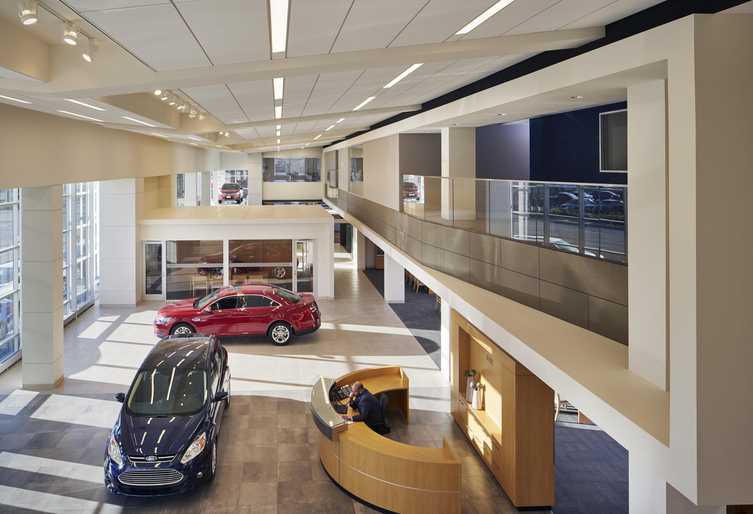 Interior view, Fox Ford.