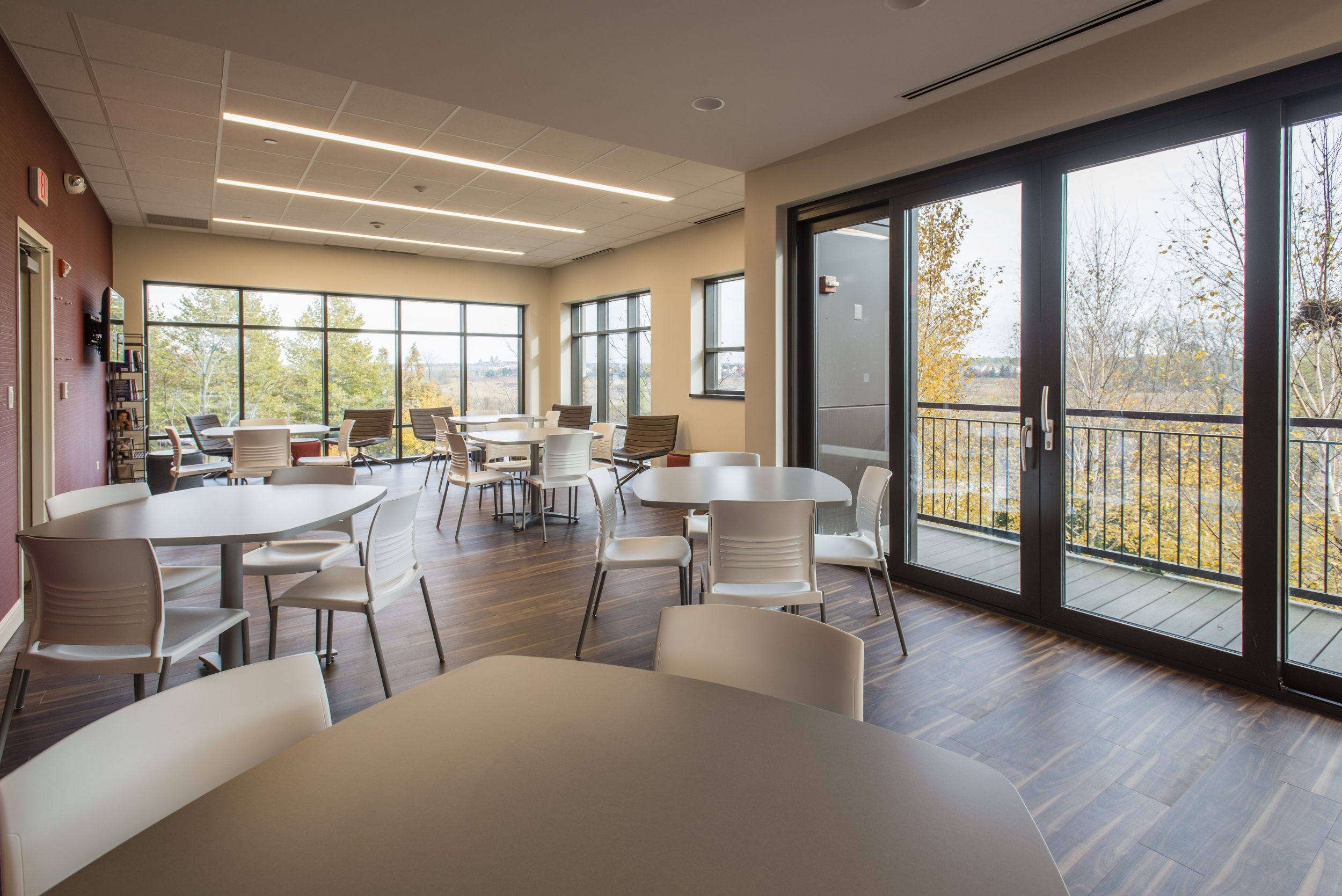 Interior view of dining area, JourneyCare.