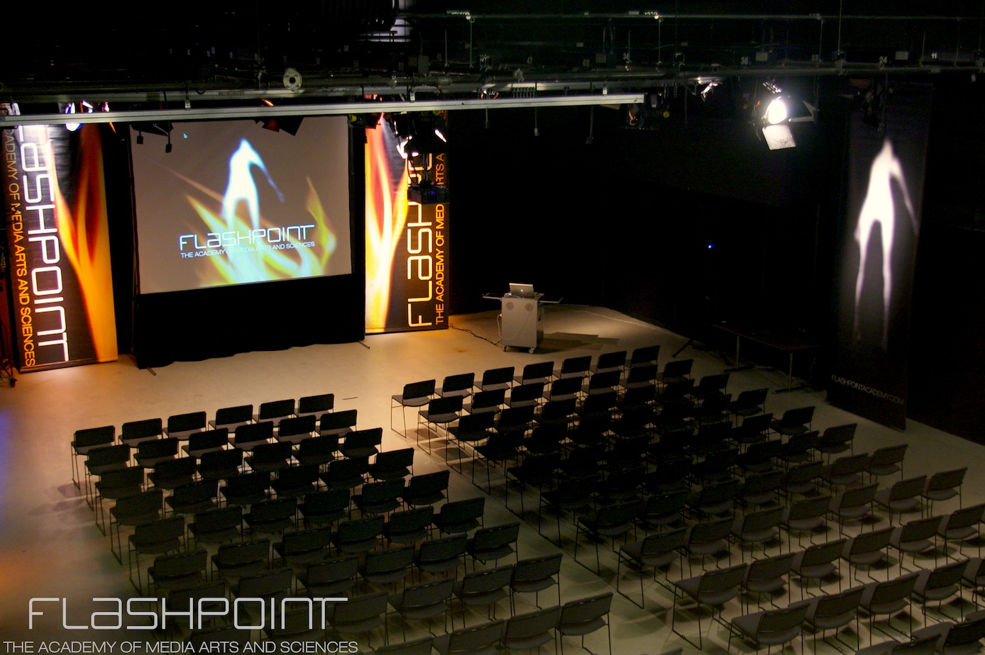 Stage at Flashpoint Chicago.