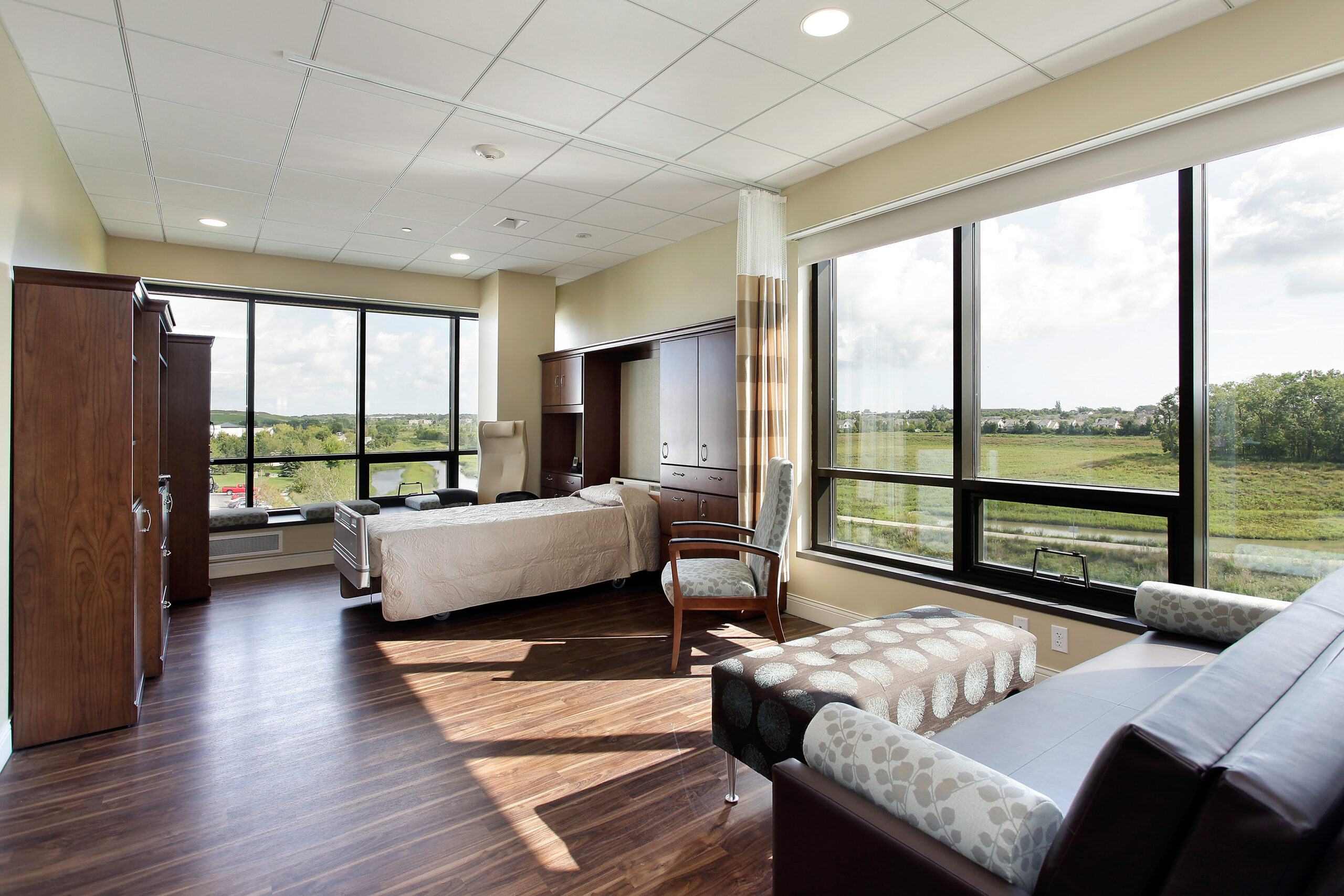 Patient or tenant room, with nature views, JourneyCare.