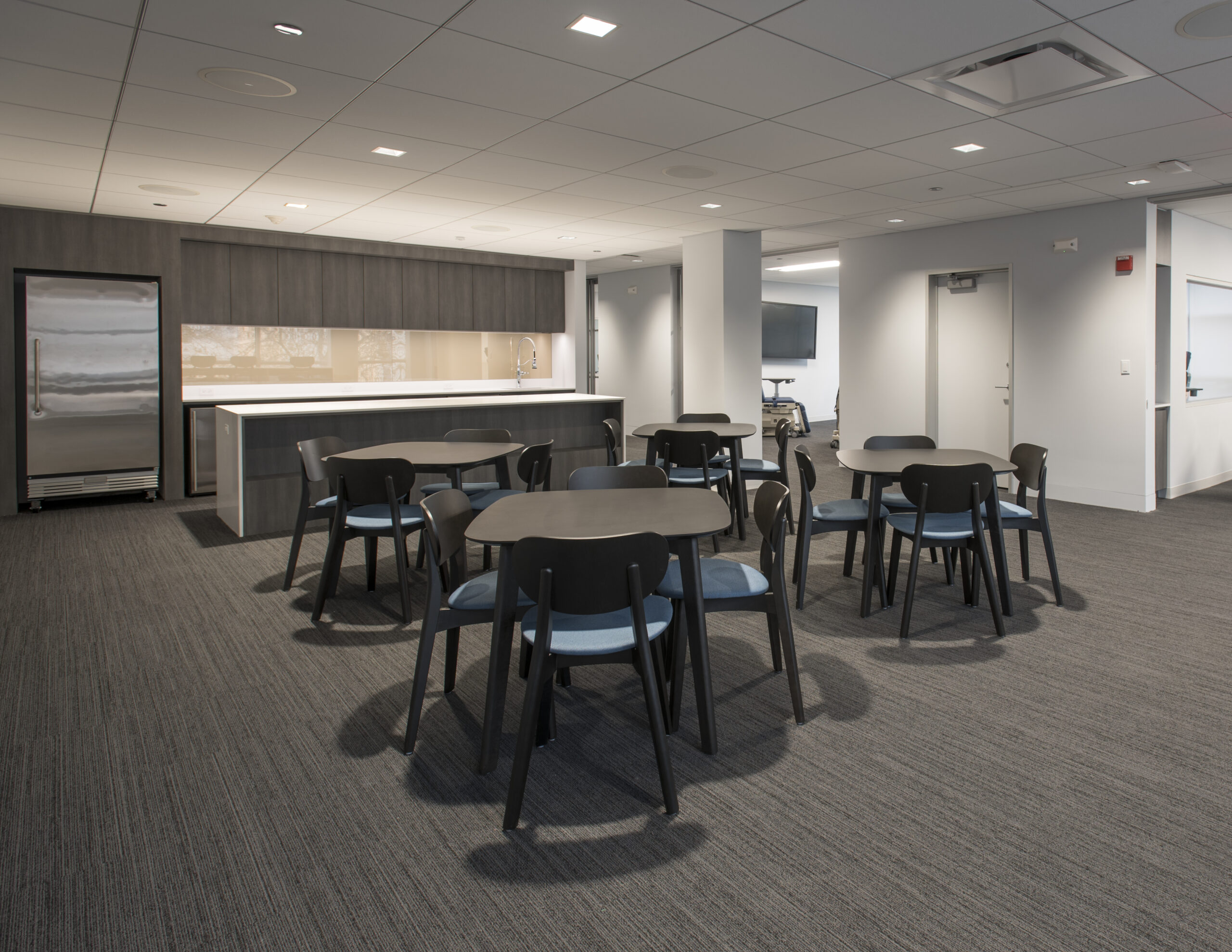 Pantry and dining area at AAOMS.