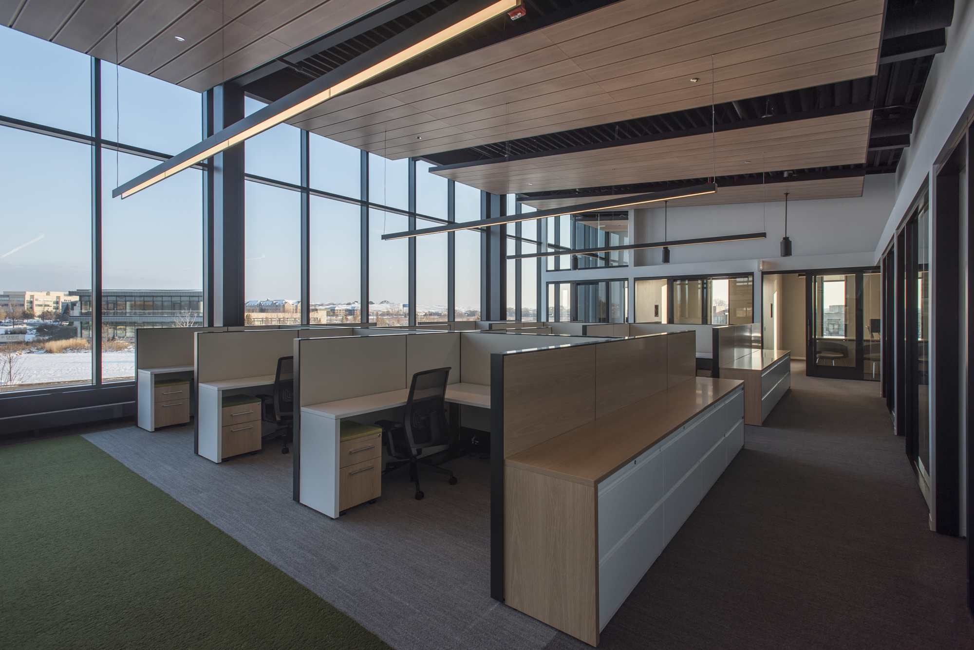 Office area within Evans Scholars.