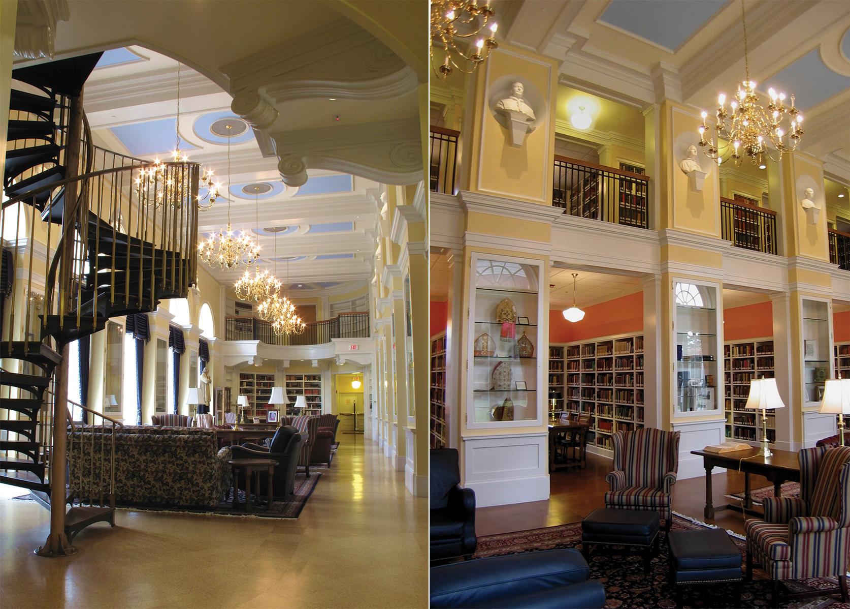 Interior of Feehan Memorial Library.