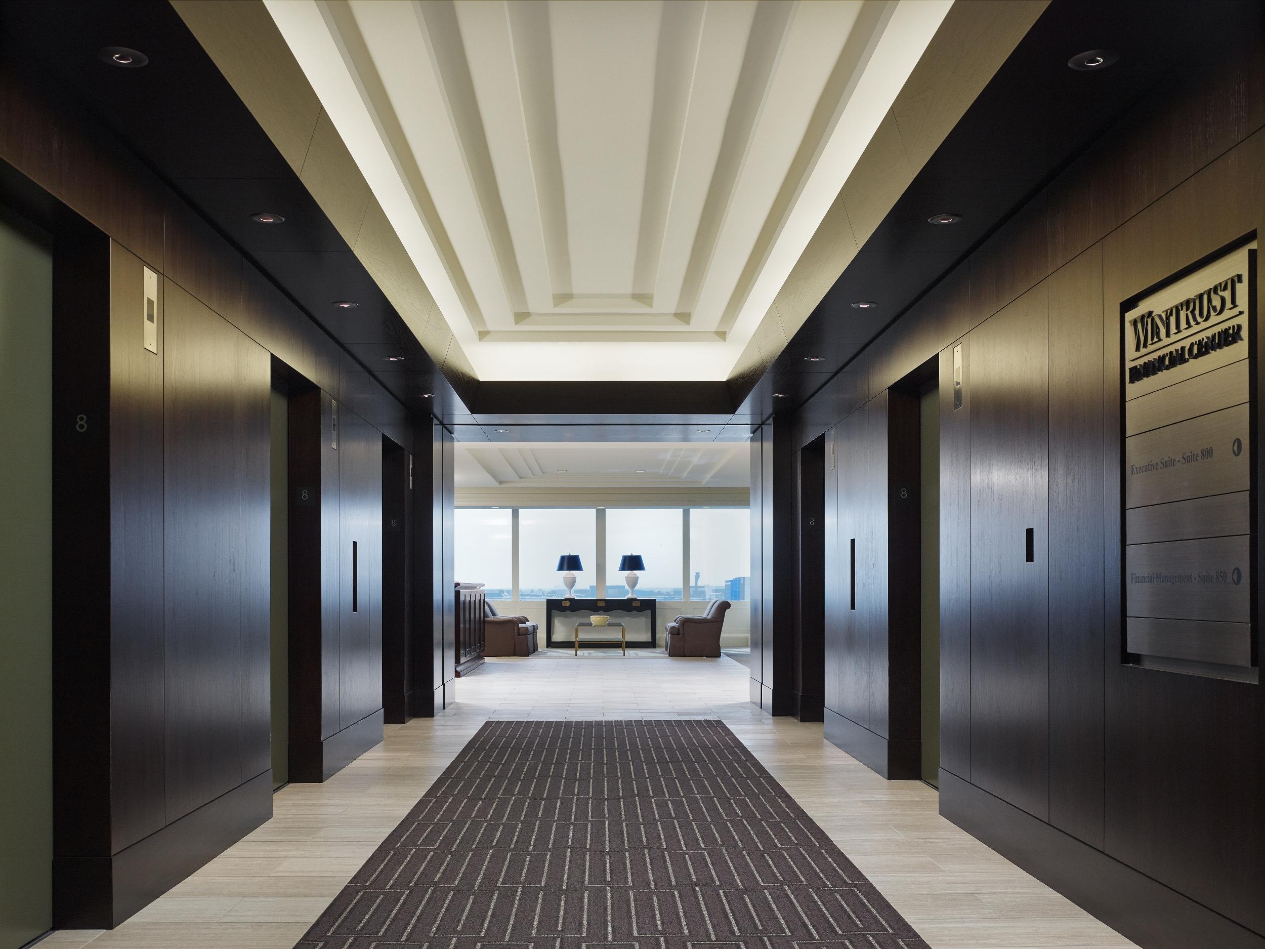 Elevator Lobby in Wintrust HQ.