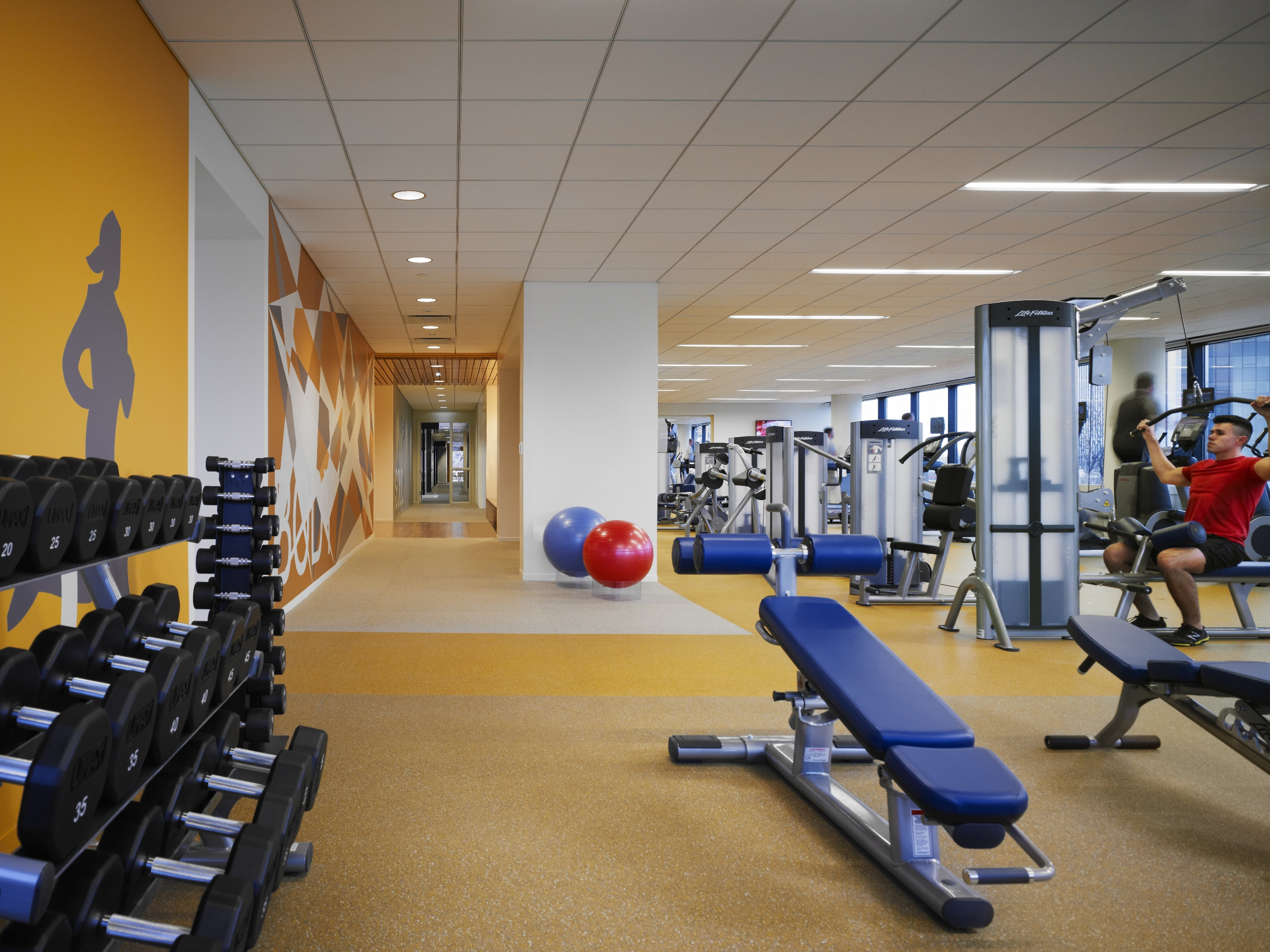 Gym in Wintrust HQ.