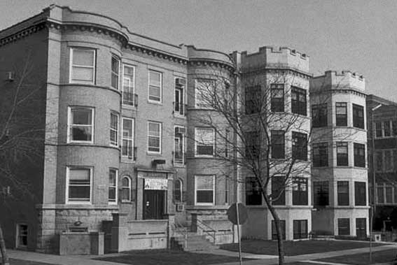 Old apartment buildings, Chicago.