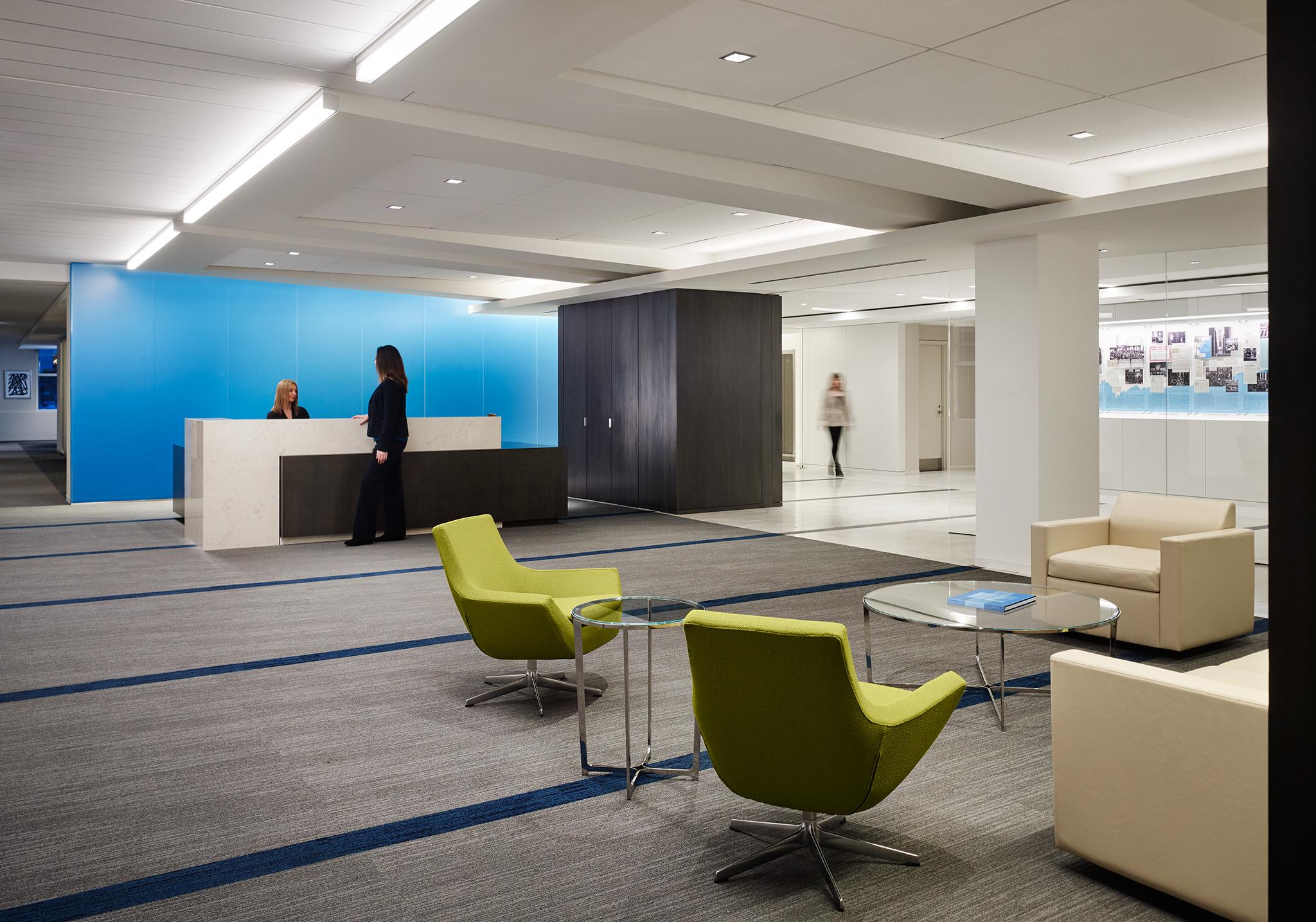 Office interior at Wintrust Wealth Management.