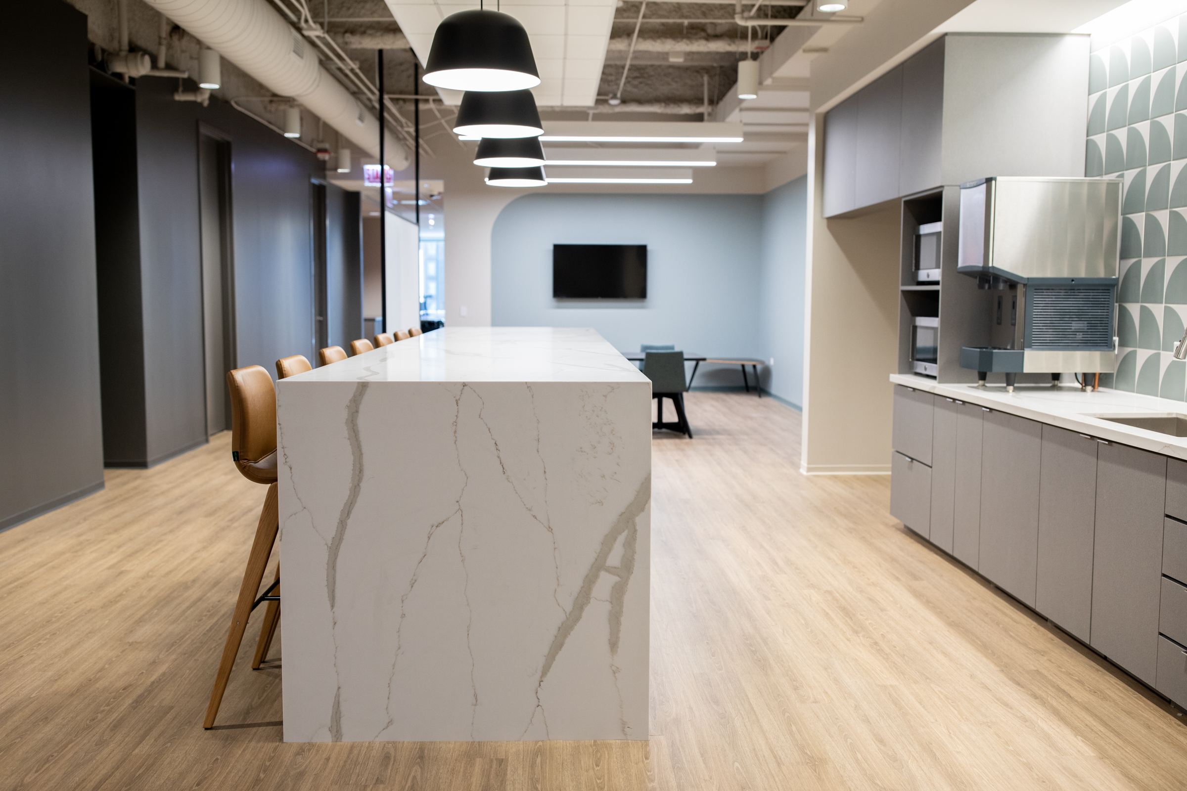 Pantry and island area at 181 W Madison.