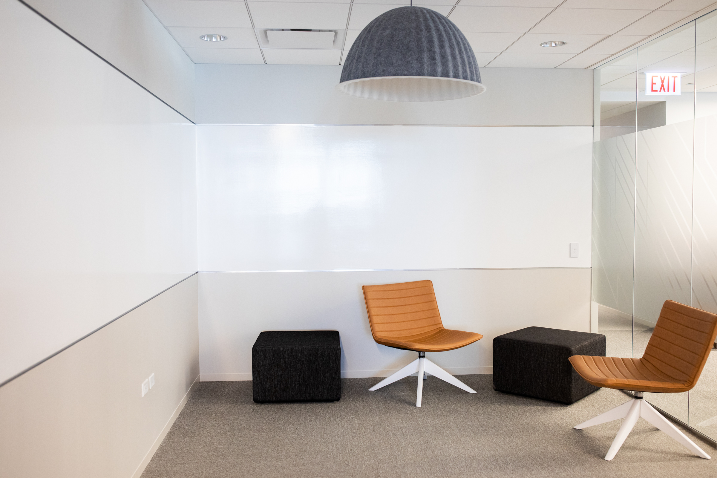 Small collaboration area at 181 W Madison.
