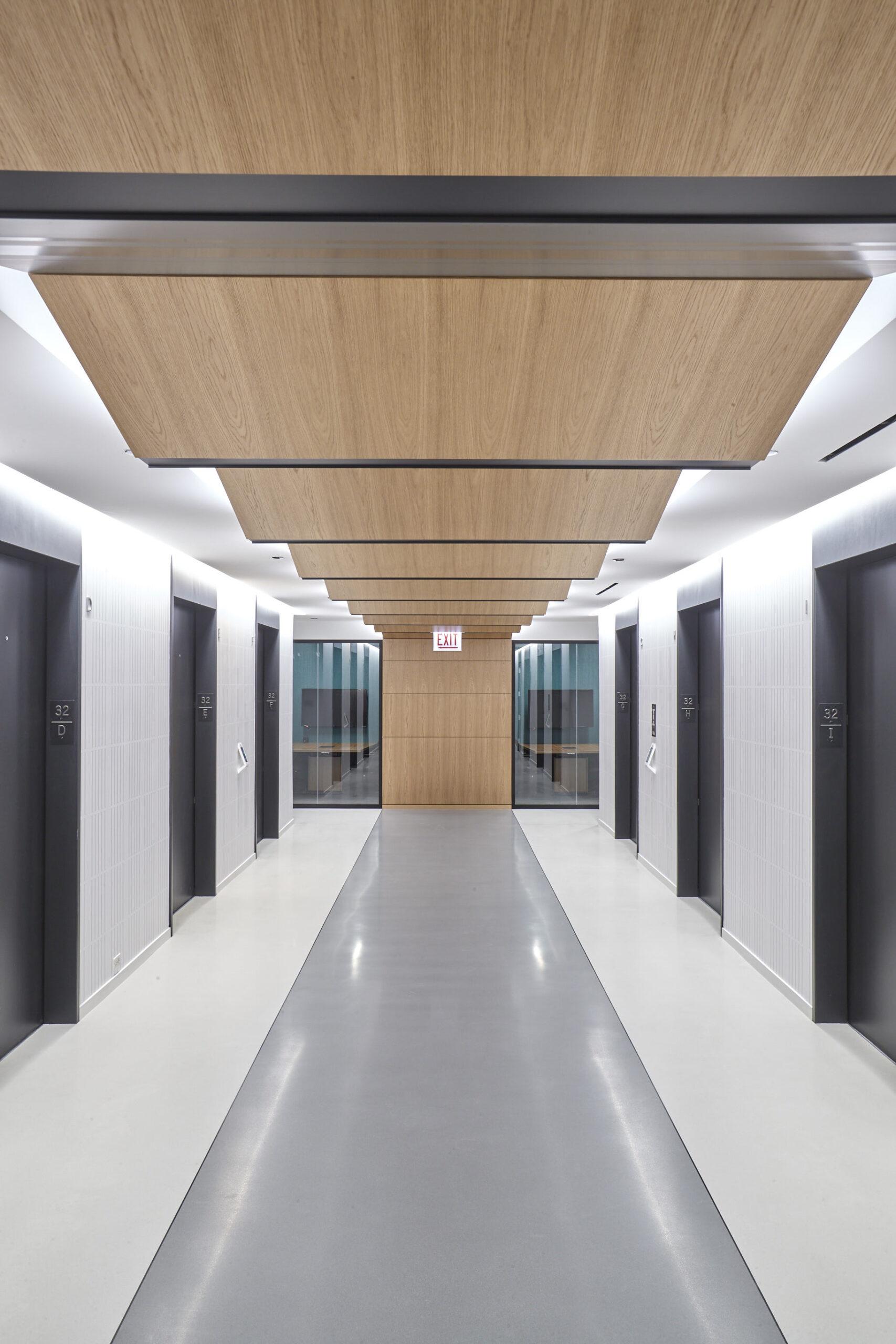 Elevator lobby, RSM.