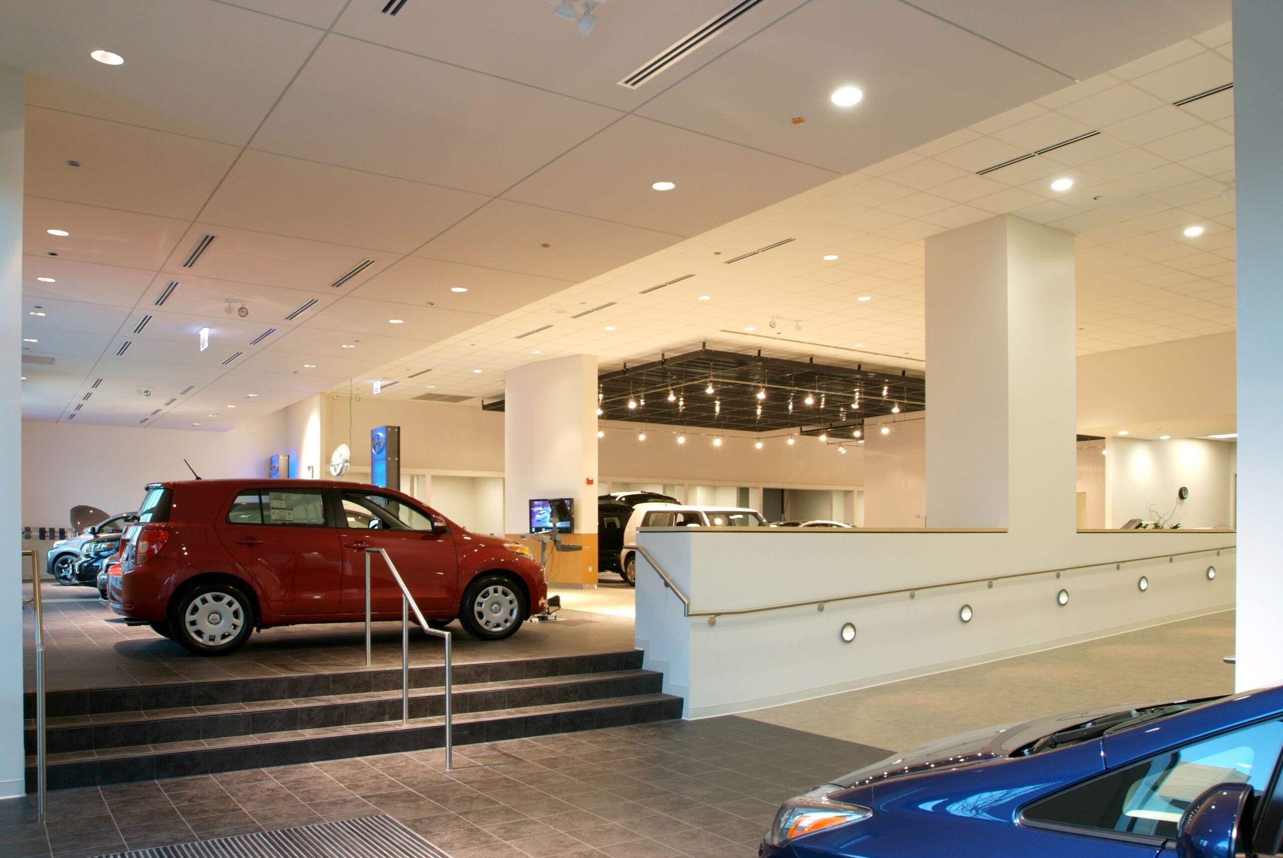 Interior, Grossinger City Autoplex Chicago.