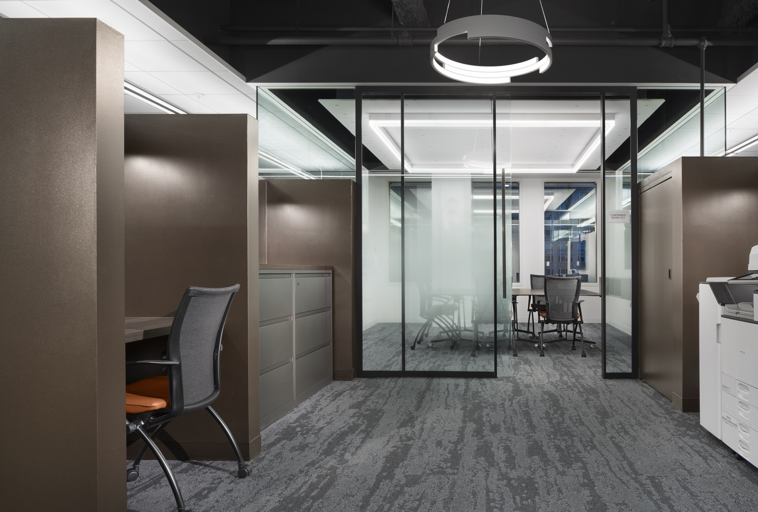 Office interior at Northern Trust, M15 and M23.