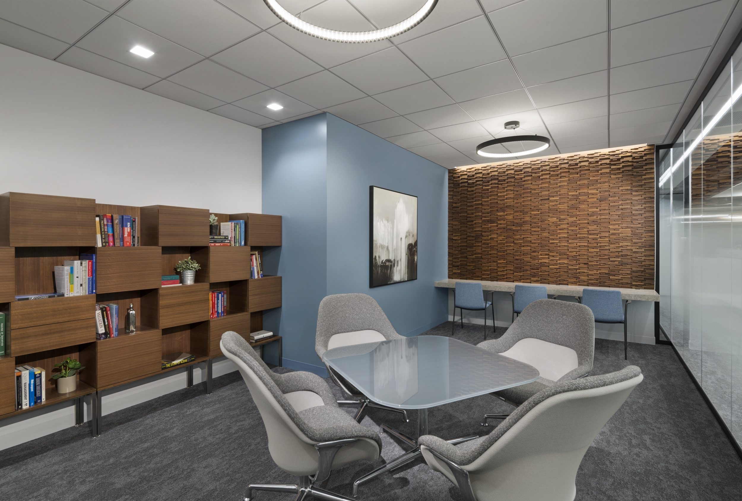 Meeting room at Northern Trust, M15 and M23.
