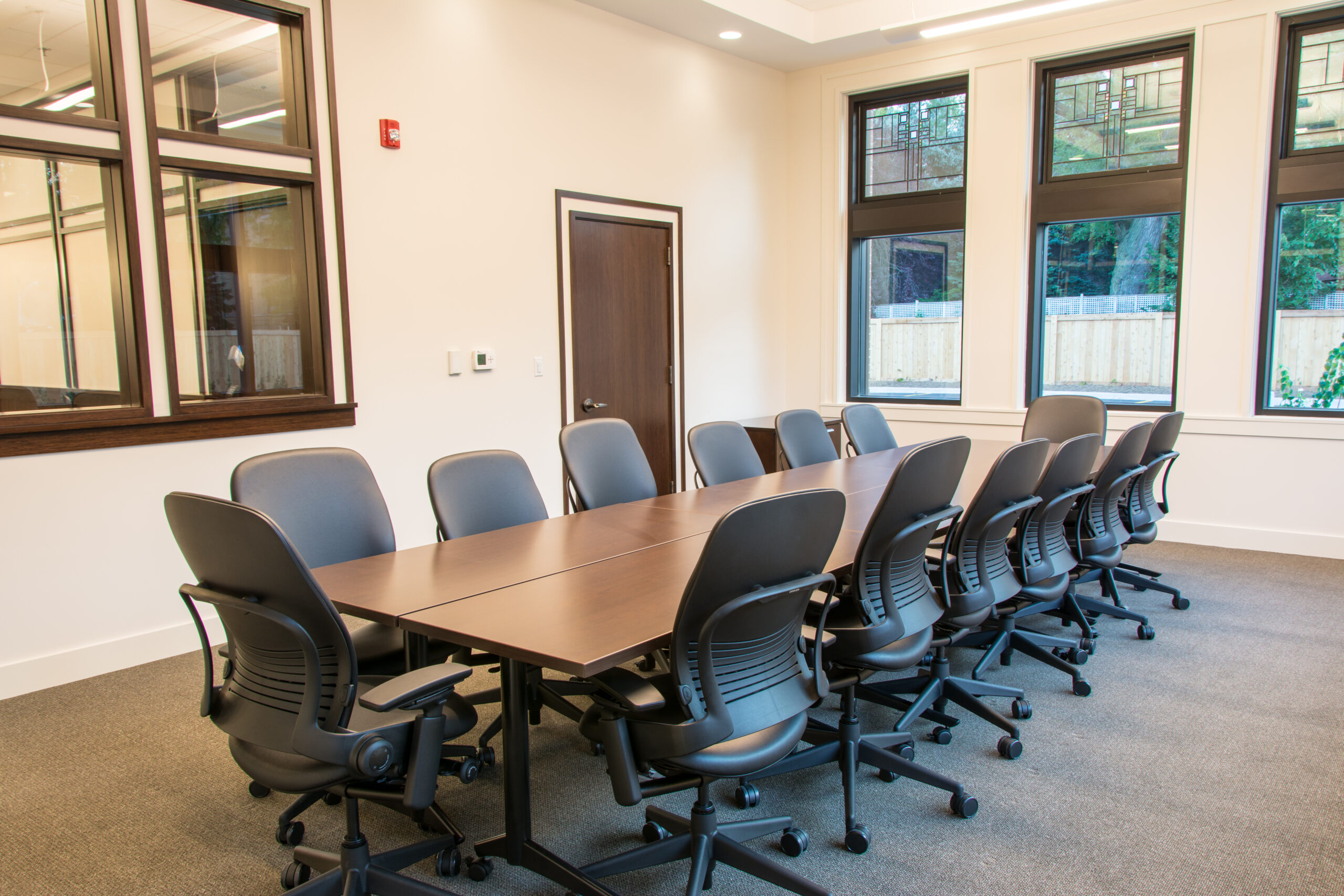 Conference room at Wintrust Bank Mayfair.