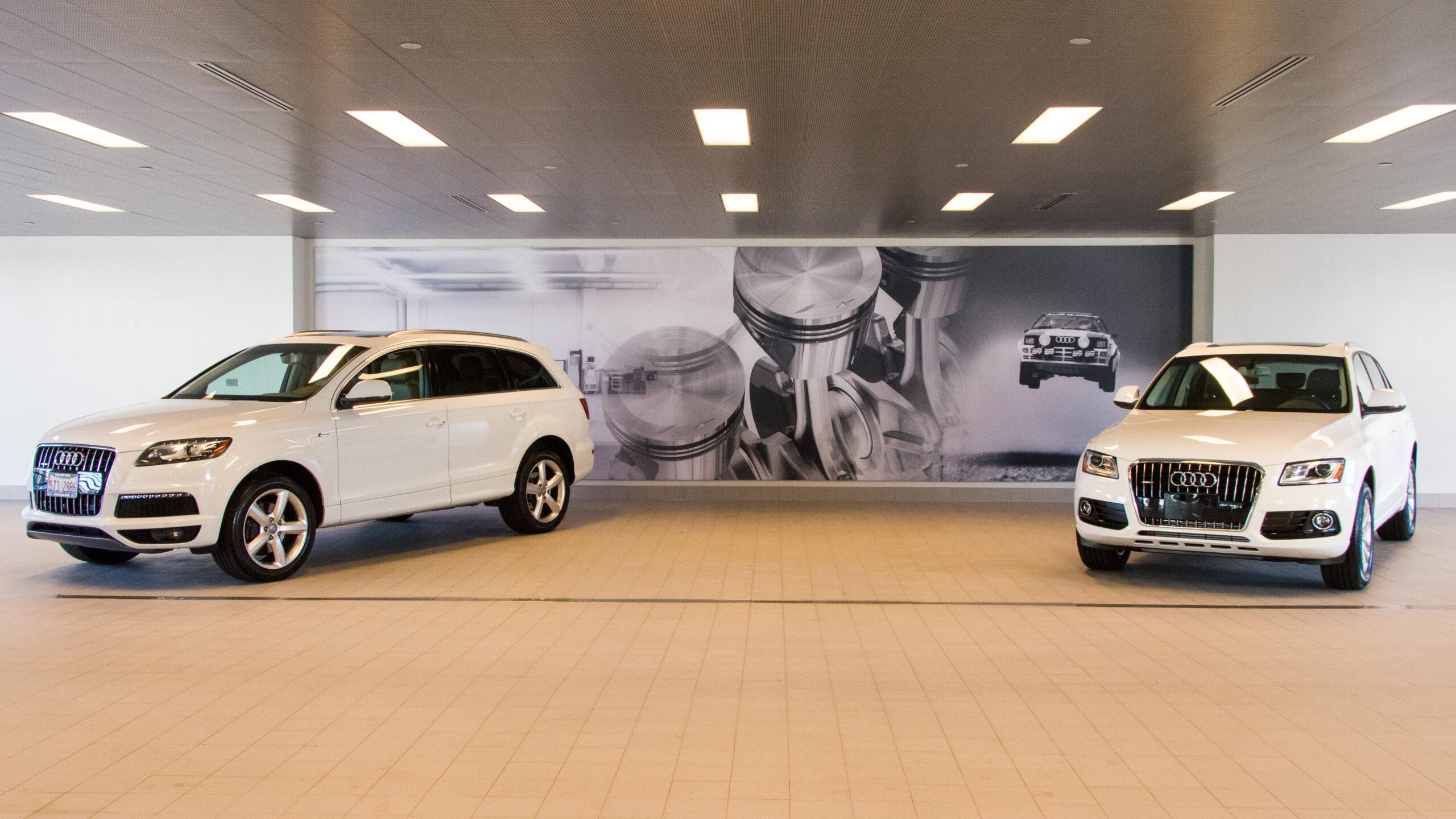 Interior view, Audi Dealership.