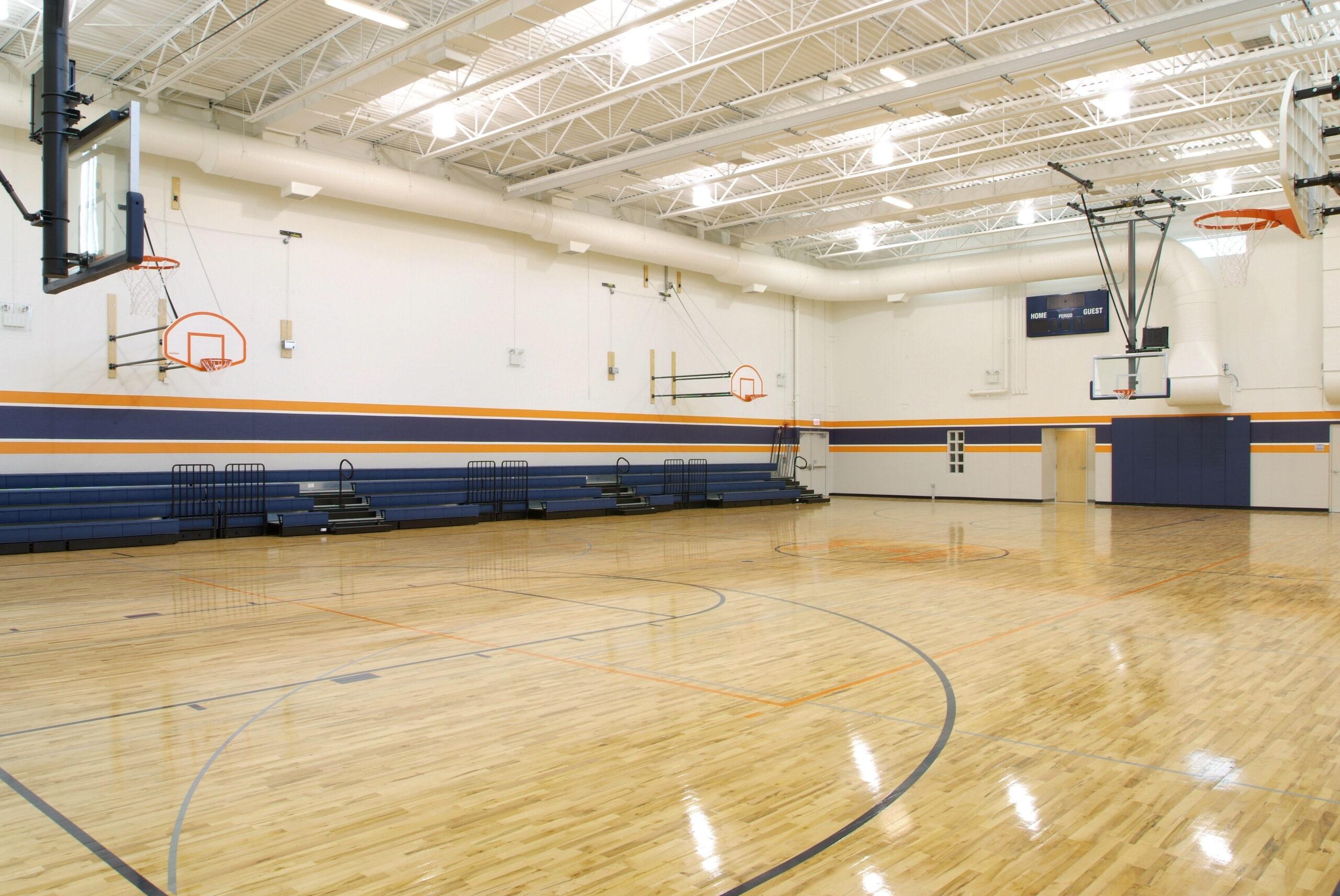 Gymnasium at Ralph Ellison High School.