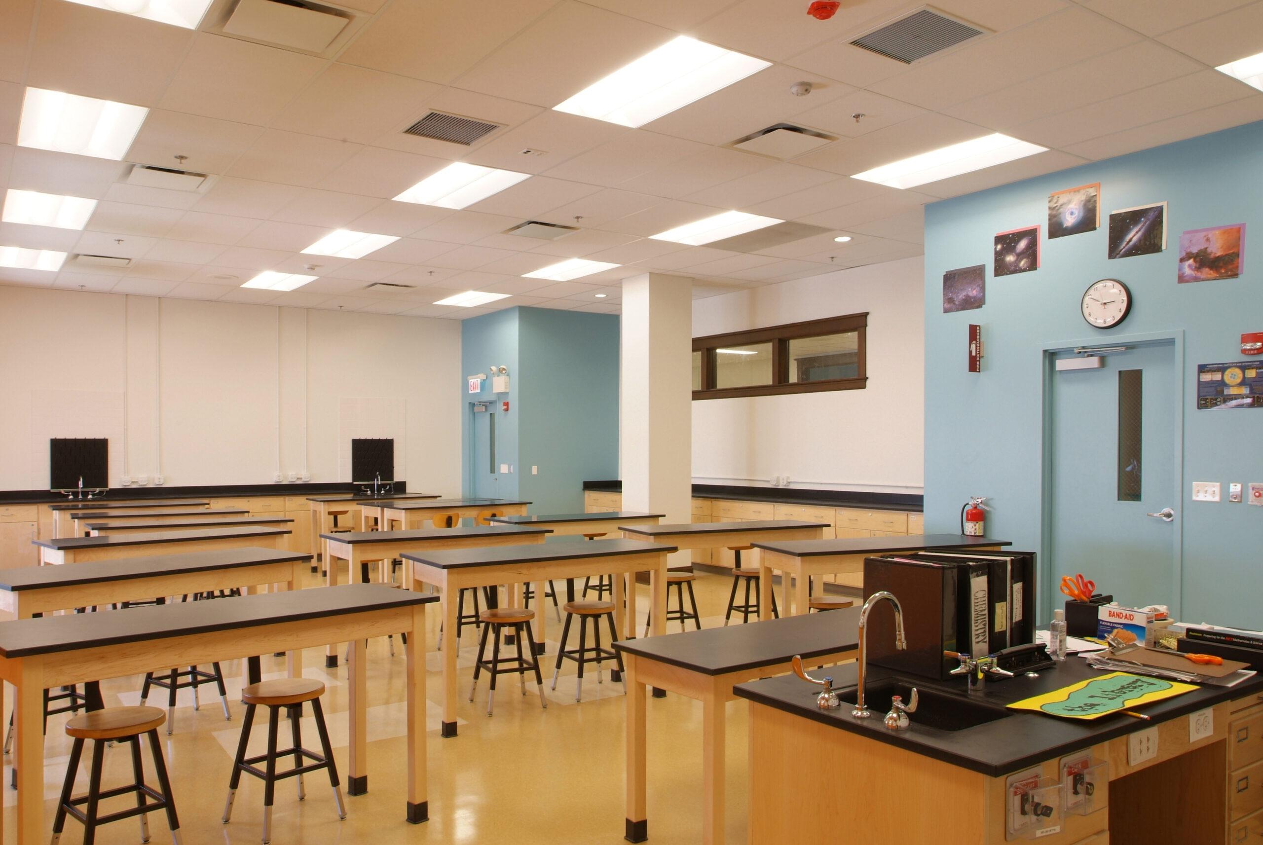 Classroom view at Ralph Ellison High School.
