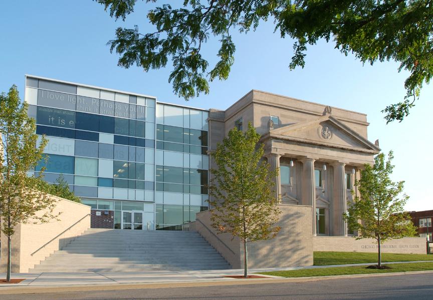 Exterior view of Ralph Ellison High School.