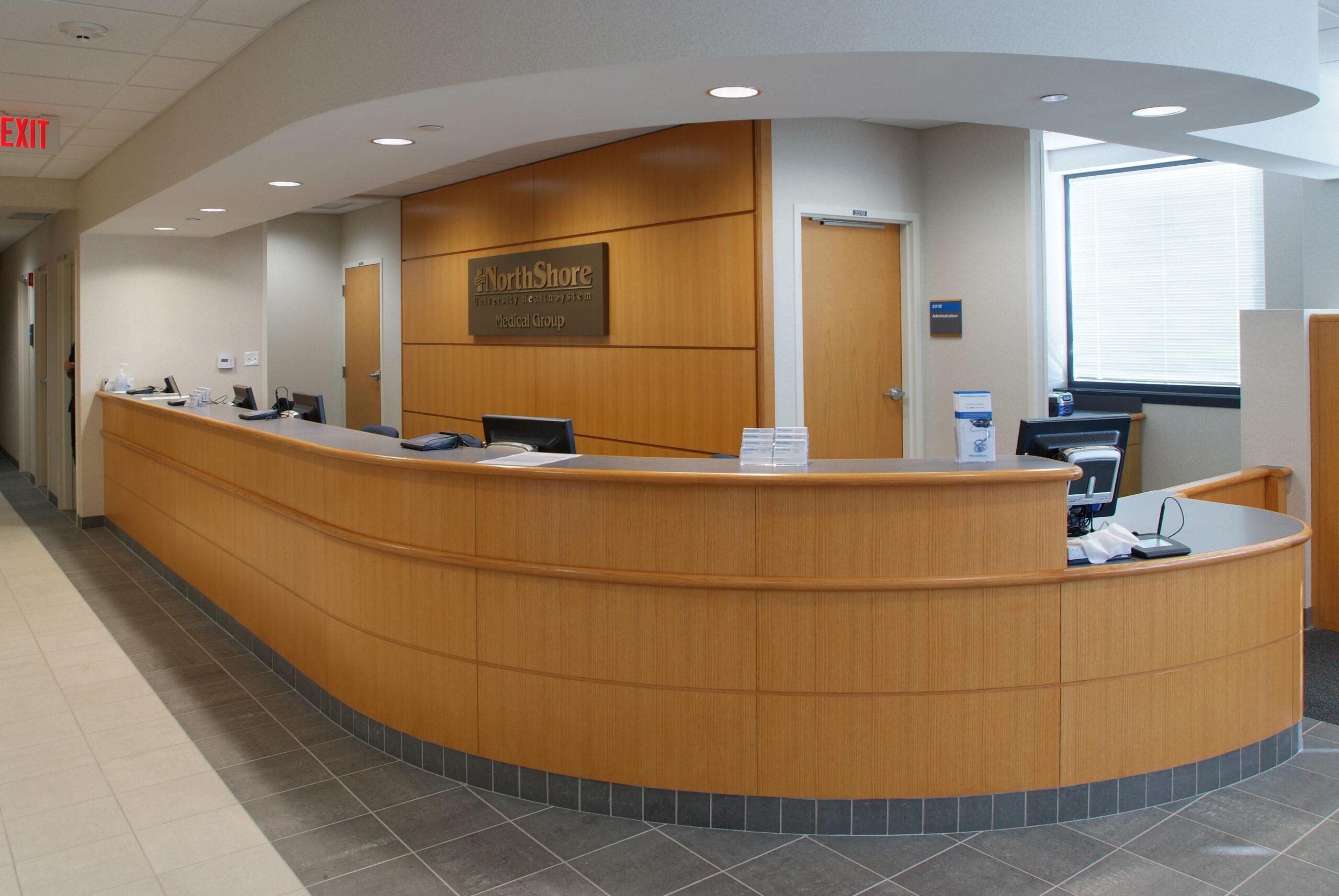 Front desk at NorthShore Medical Group.