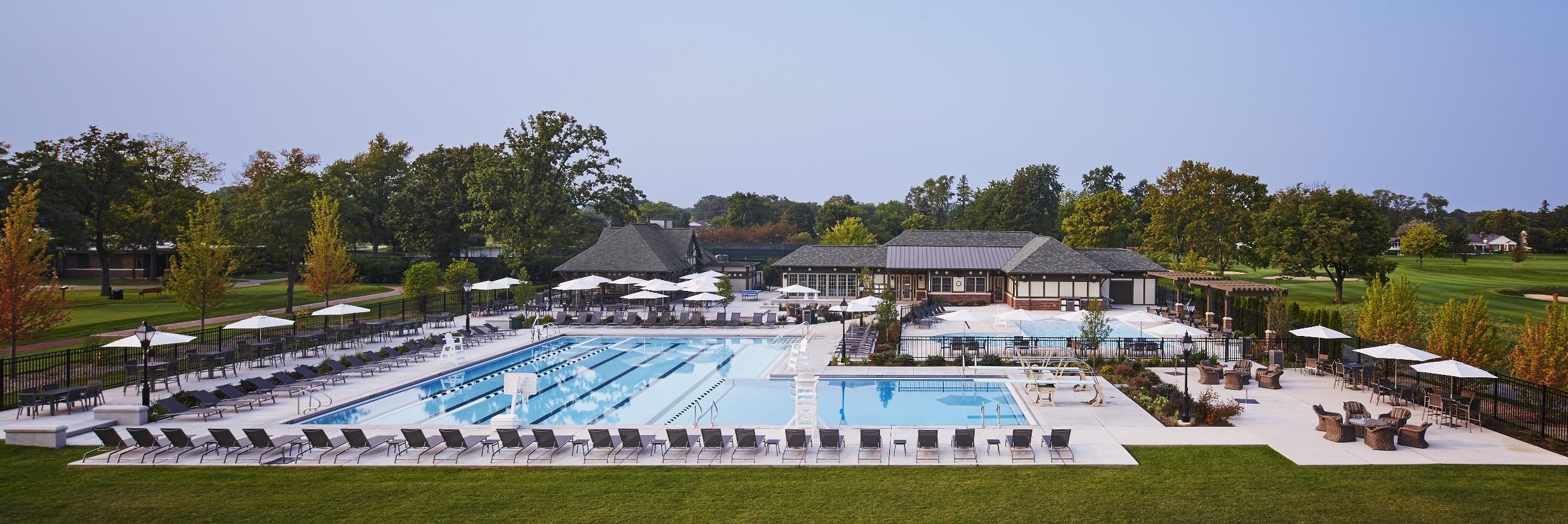 Pool view, Evanston Golf Club.