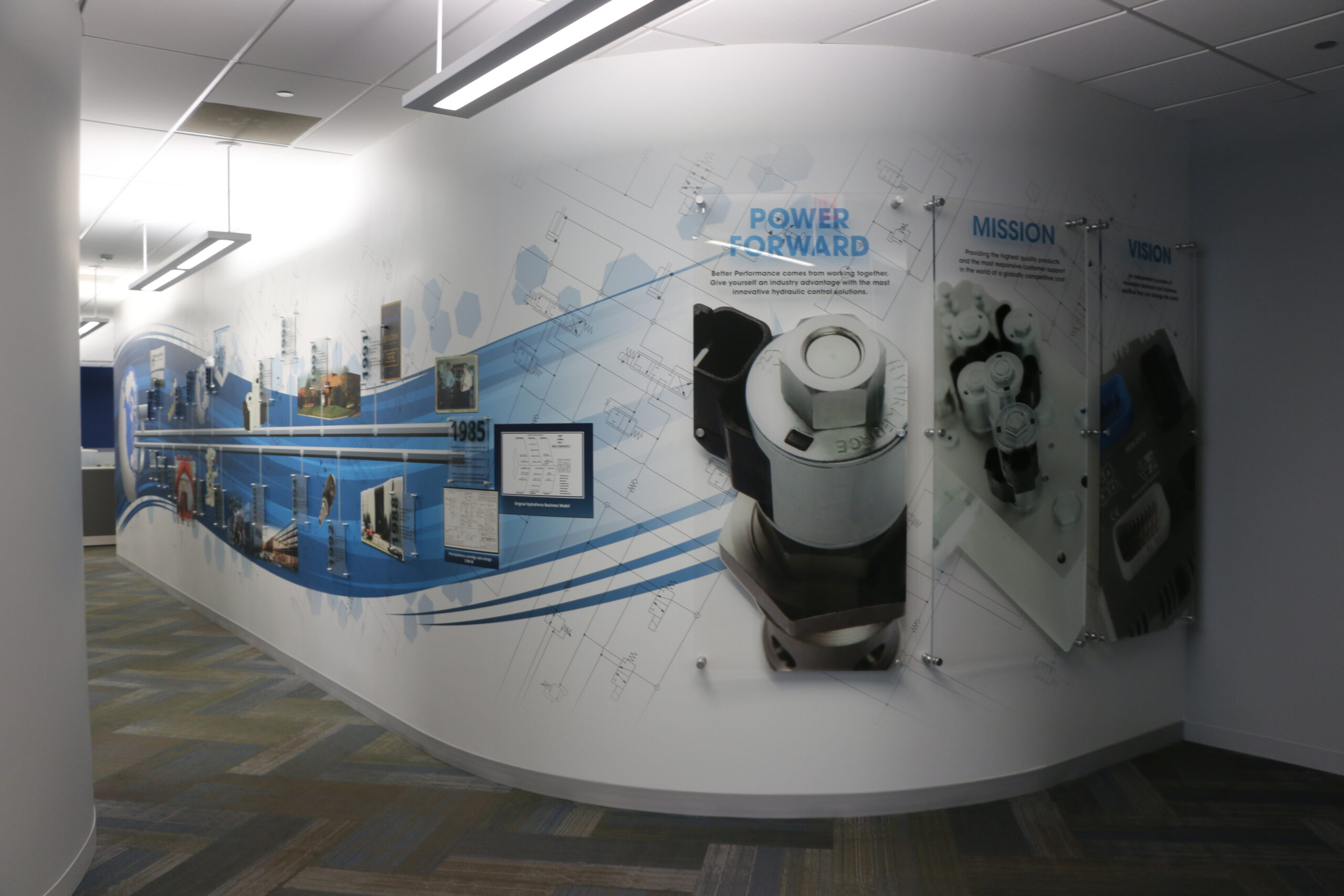 Interior office view of HydraForce.