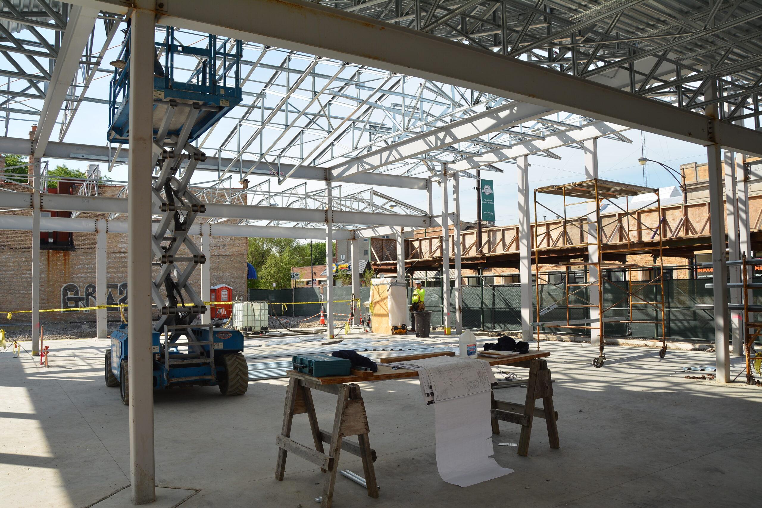 In progress view of Wintrust Bank Mayfair.