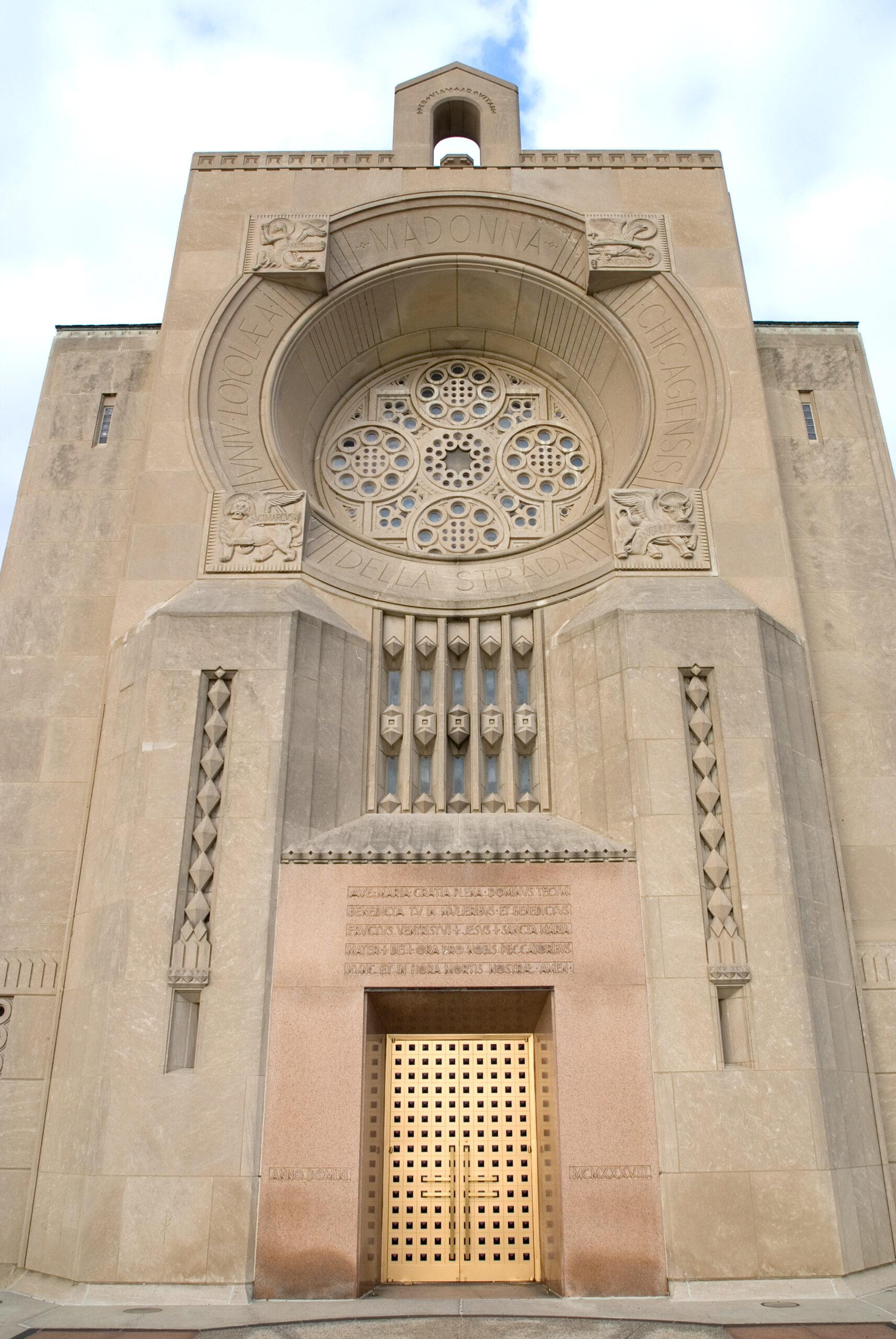 Chapel exterior, Loyola Academy.