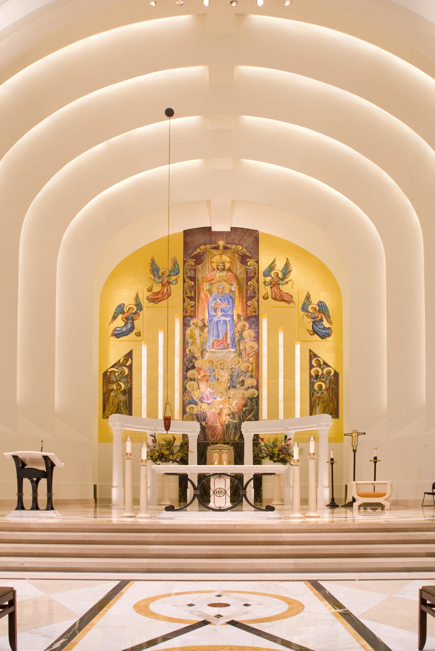 Chapel interior, Loyola University.
