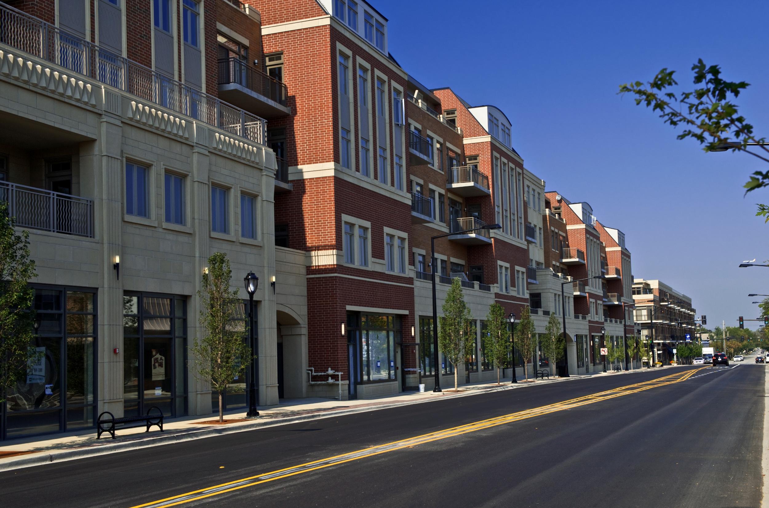 Street view of Park Ridge development.