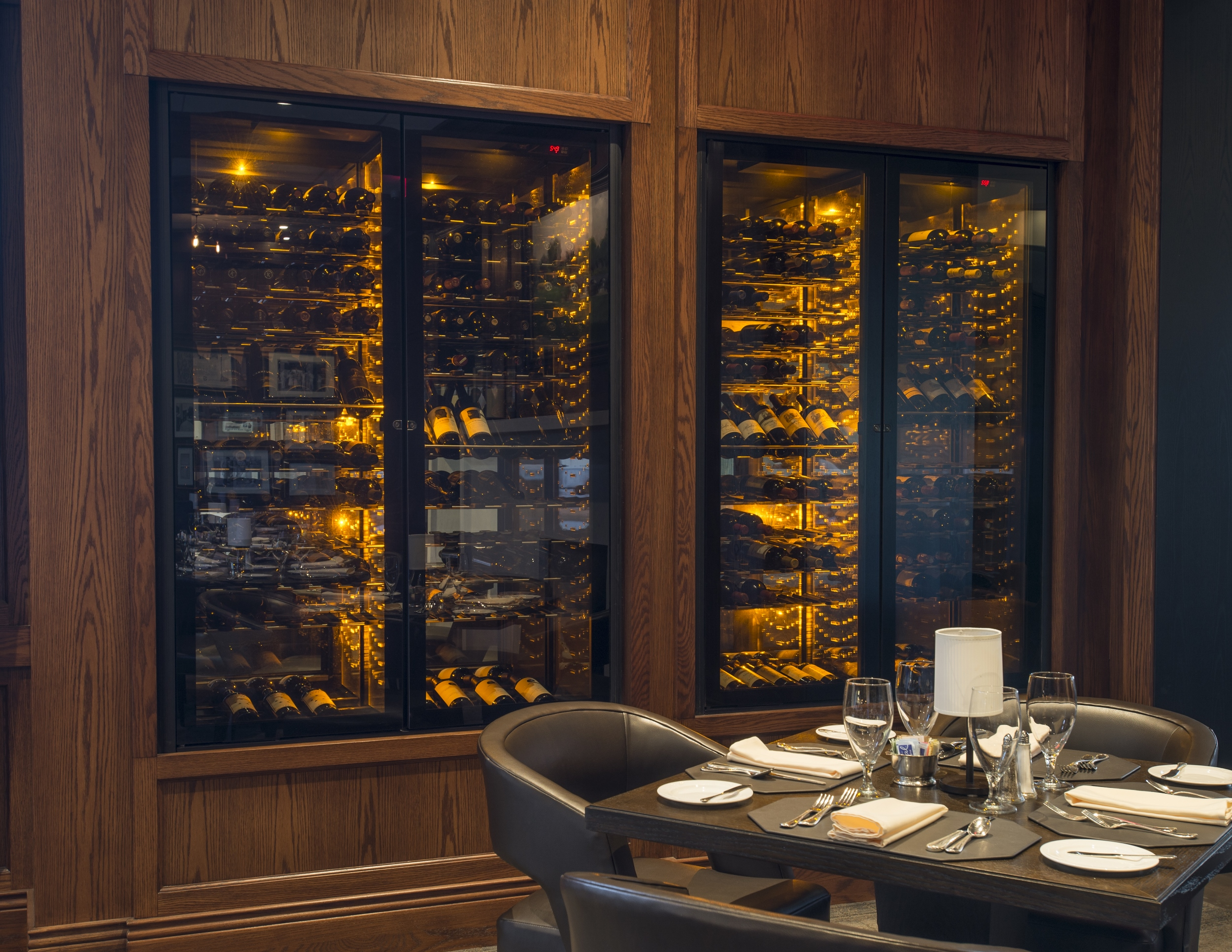Wine cabinet view, Sunset Ridge.