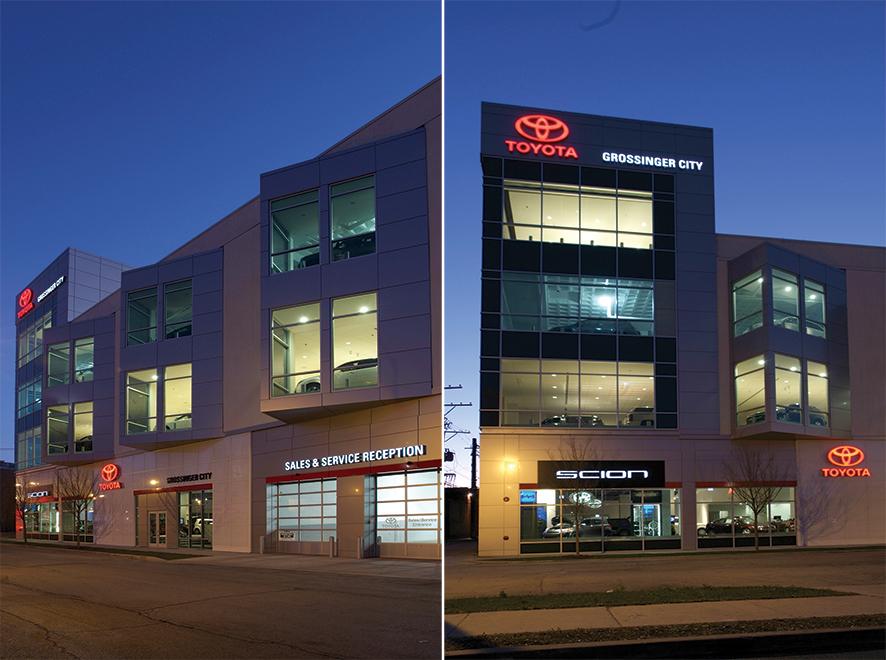Exterior, Grossinger City Autoplex Chicago.