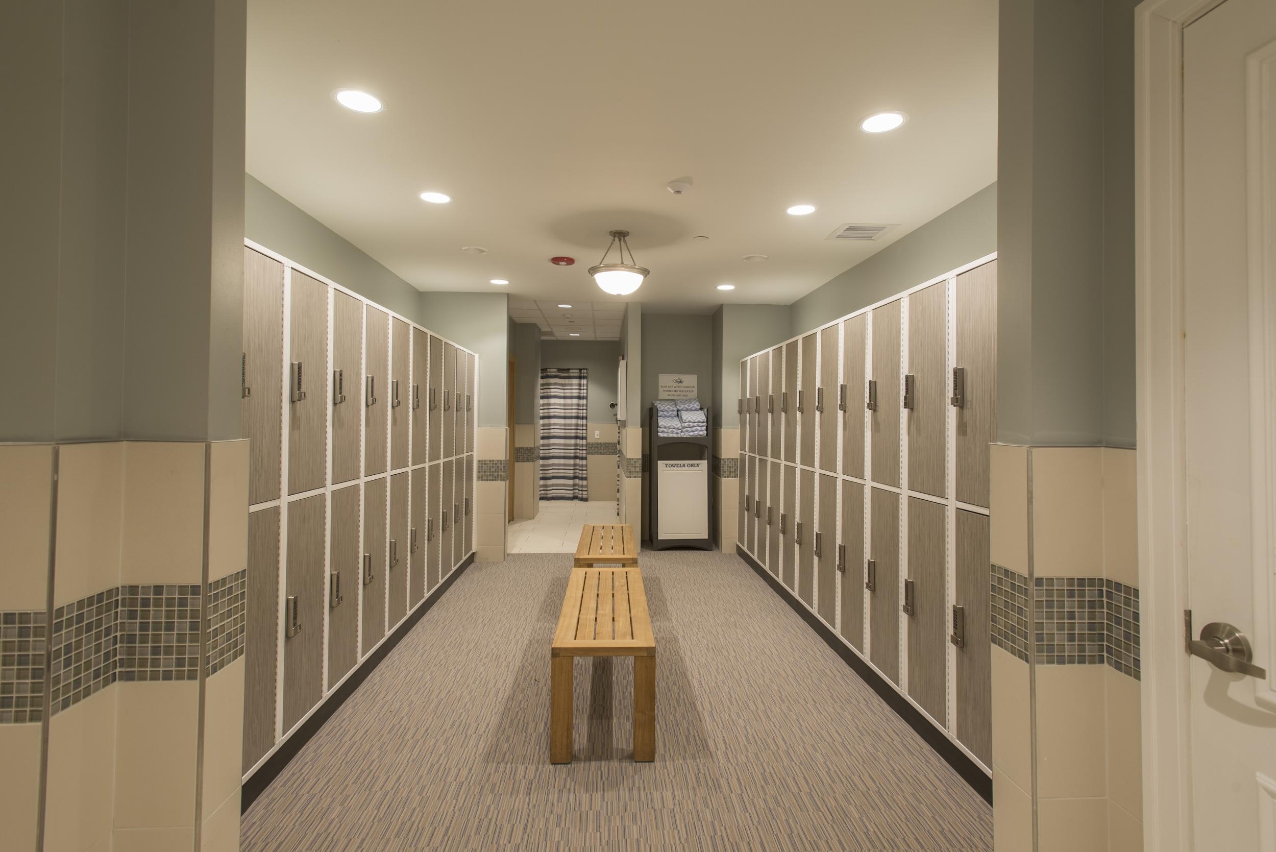 Locker room at Valley Lo.