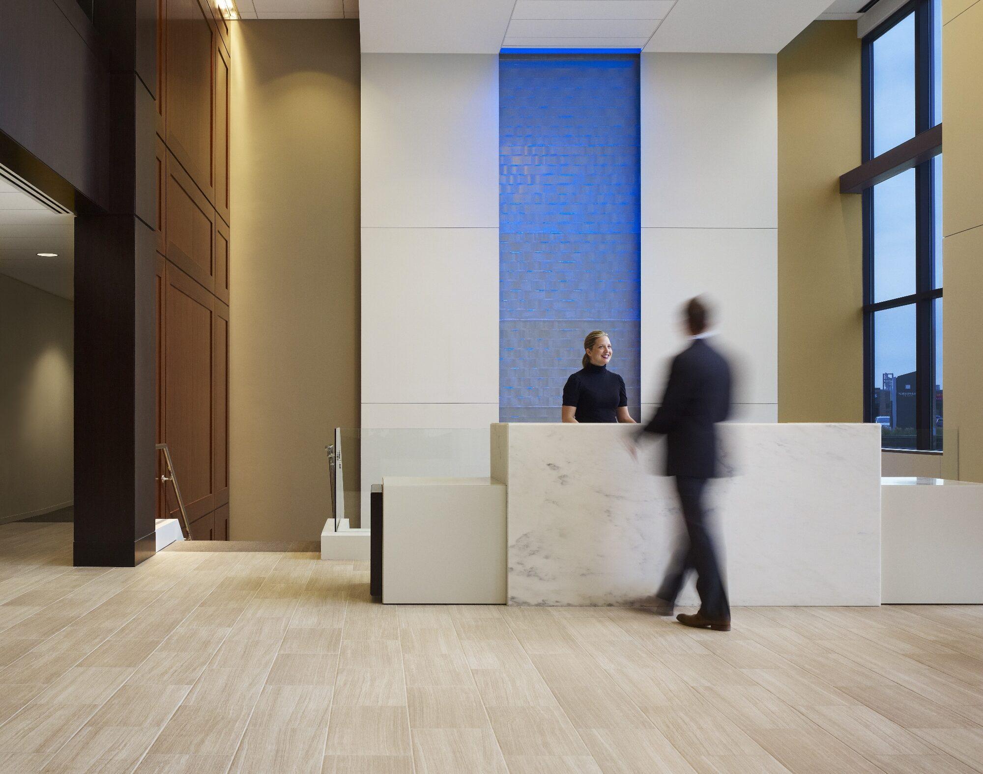 Lobby in Wintrust HQ.